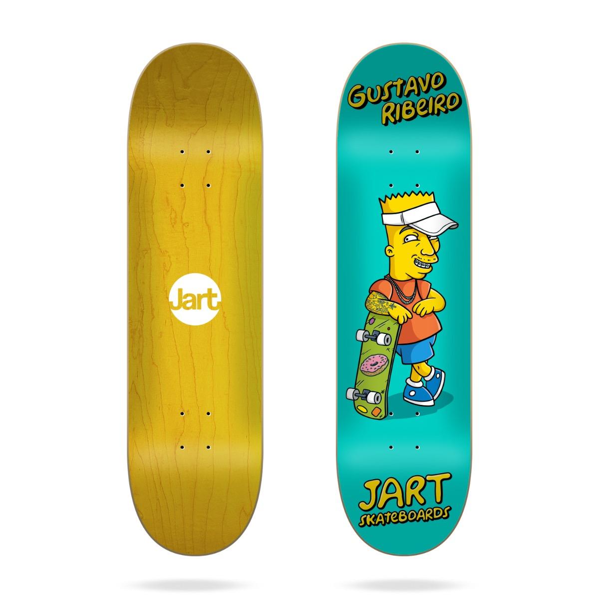 "Tavola Skateboard Jart CutOff 8.0"" LC Gustavo Ribeiro"