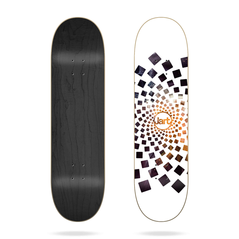 "jart spiral 8.125"" skateboard deck"