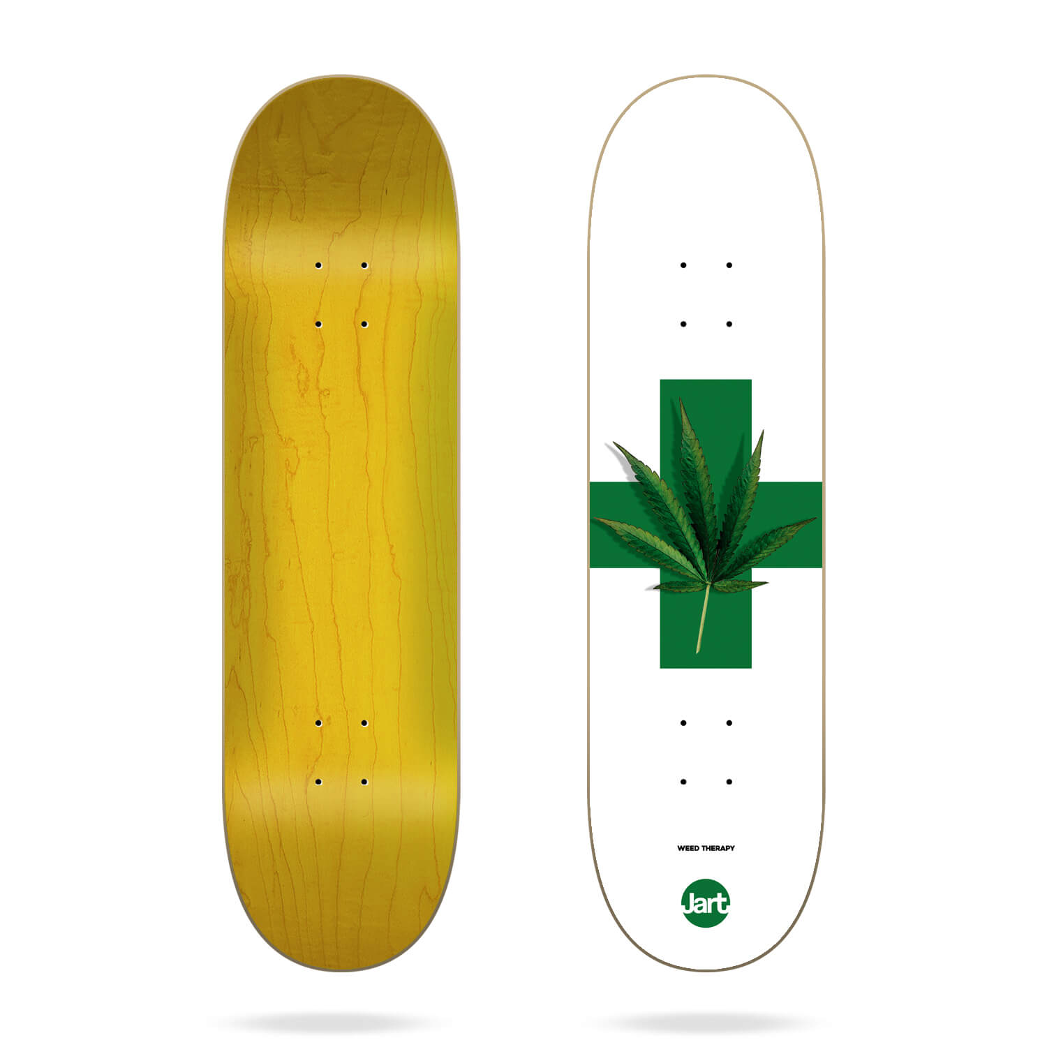 """jart weed therapy 8.25"""" skateboard deck"""